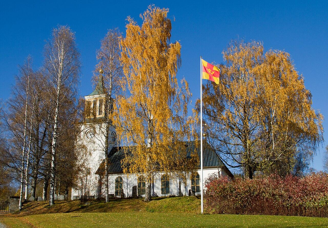 Lake Dabbsjn, Dorotea, Lappland, Sweden | Farmstead at