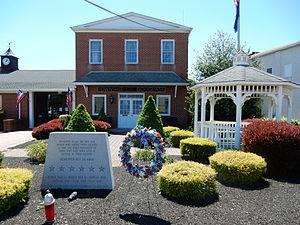 Douglass Township, Montgomery County, Pennsylvania - Gilbertsville, Douglass Township Building and War Memorial.