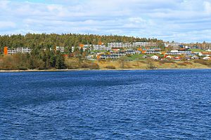 Drabantby ved Moss - suburban apartment buildings by Moss by the Oslo Fjord.JPG