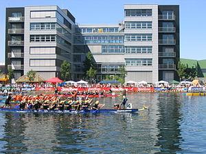 Duisburg Inner Harbour - Dragon Boat-Regatta during the Inner Harbor Festival 2005