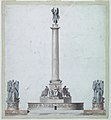 Drawing, Project- The elevation of a Victory monument, ca. 1820 (CH 18550475).jpg