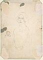"Drawing for scene from Vanity Fair- ""Street Scene"" (recto); Sketch of Young Woman (verso) MET DP800742.jpg"