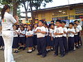 Dry run with kids at City Central School CDO on how to wash hands with soap during Global Handwashing Day 2008 (Cagayan de Oro) (3172335900).jpg