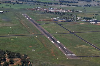 Dubbo City Regional Airport - Aerial view of the airport