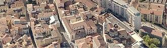 Potenza - Aerial view of the Duomo and Palazzo Loffredo