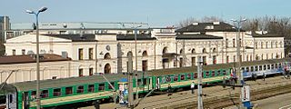 railway station in Białystok, Poland