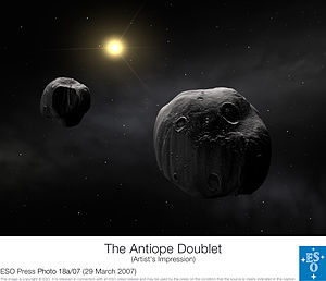 ESO - The double asteroid Antiope (by).jpg