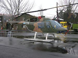 ES 511 Agusta Bell OH-58A Jet Ranger II of 3 TEAS at its base..jpg