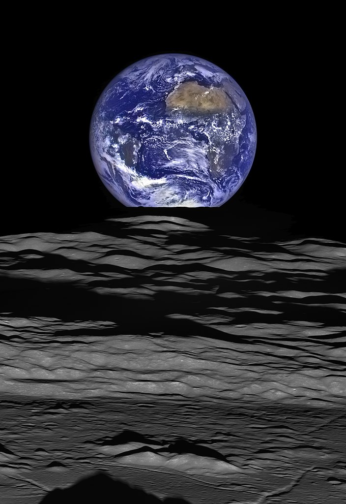 An image of Earth from the Lunar Reconnaissance Orbiter