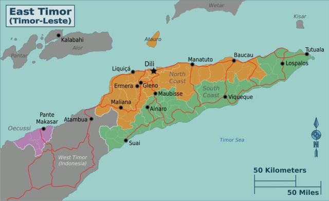 Grafik: Regionalkarte Timor-Leste