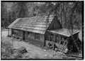 East and north facades - Stehekin School, East side, Stehekin Valley Road, Stehekin, Chelan County, WA HABS WASH,4-STEH.V,1-4.tif