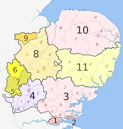 Map Of England Districts.Subdivisions Of England Wikipedia