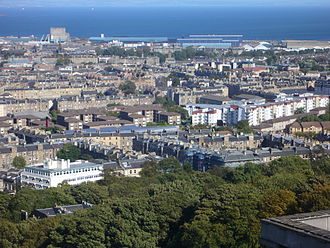 Easter Road, Edinburgh - The area between Easter Road and Leith Walk in 2009.