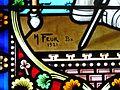 Echourgnac église vitrail signature.JPG