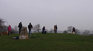 Torrisholme - Image: Eclipse watchers on Torrisholme Barrow (geograph 4392829)
