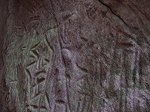 History of India - Stone age (6,000 BCE) writings of Edakkal Caves in Kerala, India.