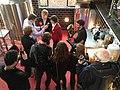 Eddie Izzard and Sarah Sackman at The Bohemia, North Finchley, April 2015 02.jpg