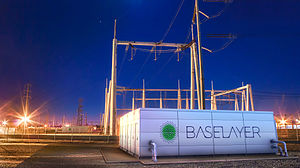Modular data center - A modular data center connected to the power grid at a utility substation