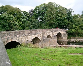 Listed buildings in Clitheroe - Image: Edisford Bridge, Clitheroe geograph.org.uk 54057