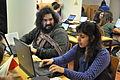 Editando durante la Editaton del exilio republicano español en Chile 01.JPG