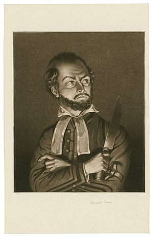 Edmund Kean - A print of Edmund Kean as Shylock in Shakespeare's Merchant of Venice.