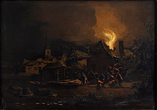 Fire in a Dutch Village