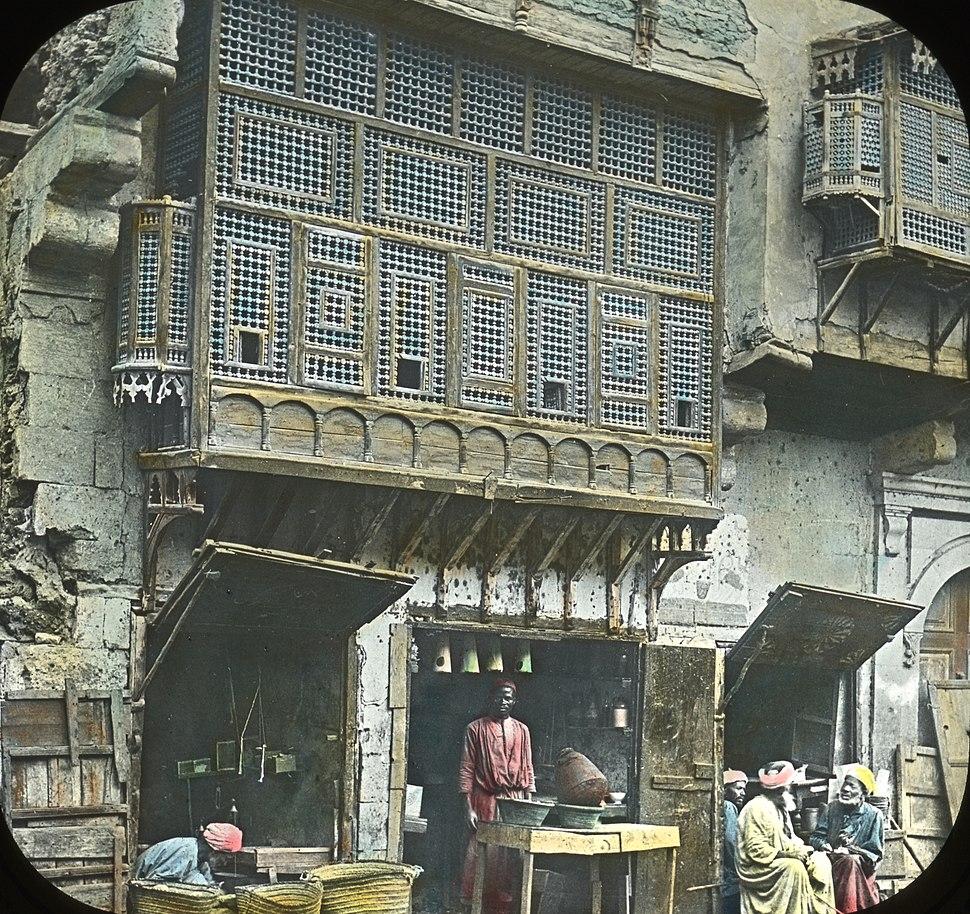 Egypt, Arabic Window and Native Bazaar, Cair