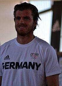 Einkleidung der deutschen Olympiamannschaft Rio 2016 Medientag Hannover Rico Freimuth 1.jpg