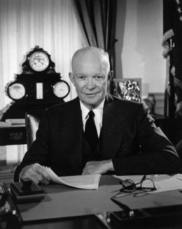 Eisenhower in the Oval Office., From WikimediaPhotos