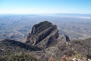 El Capitan (Texas) - View of the summit of El Capitan