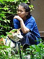 Elderly Woman with Dog - Philosopher's Walk - Northern Higashiyama - Kyoto - Japan (47934801982).jpg