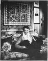 Eleanor Roosevelt and Fala at Val,Kill in Hyde Park - NARA - 197263.tif
