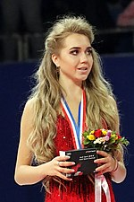Elena Radionova at the Cup of China 2017 - Awarding ceremony 01.jpg