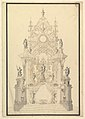 Elevation of a Catafalque with a royal Crown surmounting the Casket MET DP820093.jpg