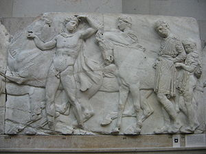 Parthenon Frieze - West frieze, XLVII, 132–136, British Museum