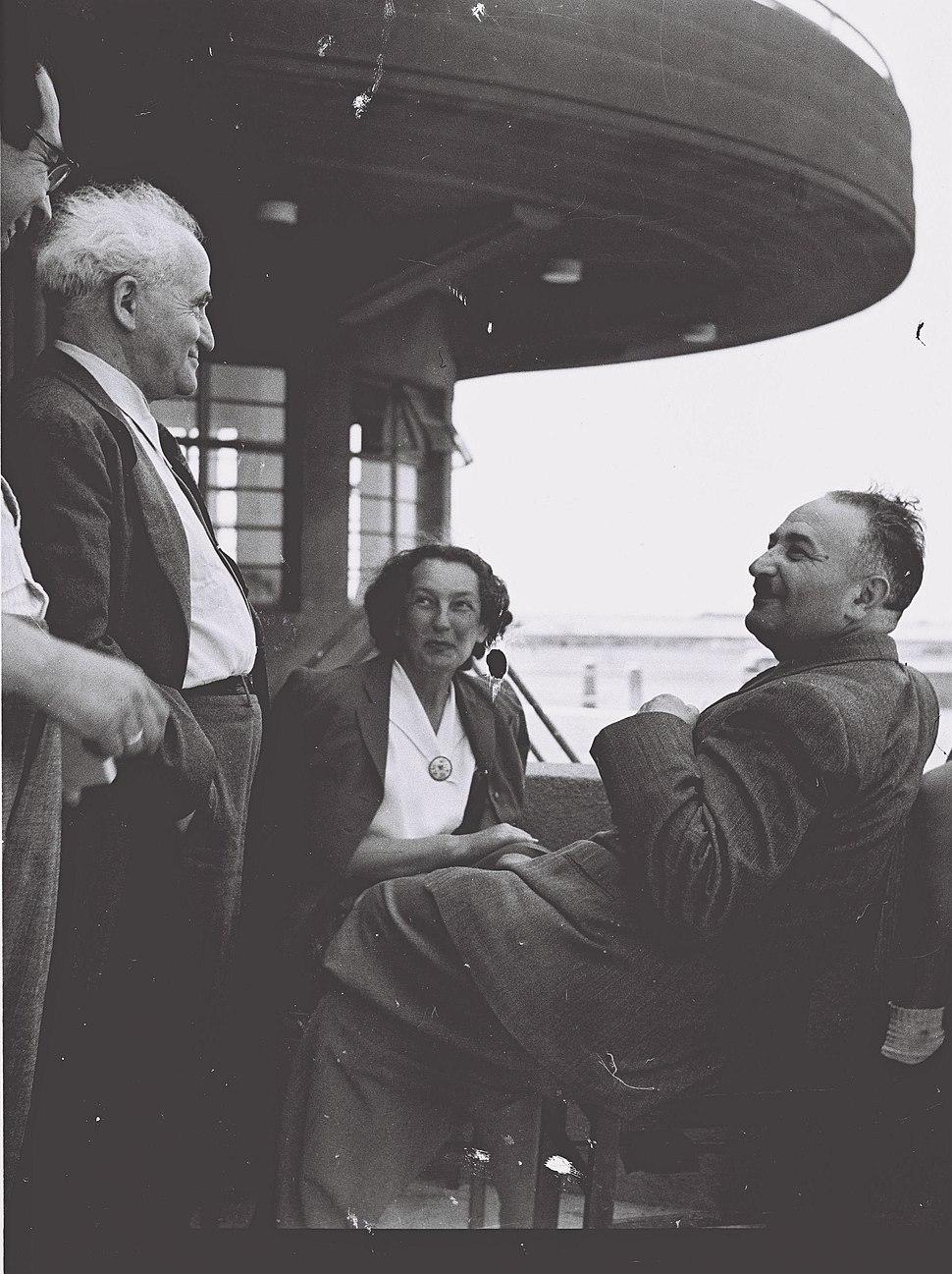 Eliyahu Dobkin David Ben Gurion1947