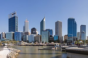 Elizabeth Quay - Elizabeth Quay with the Perth CBD in the background