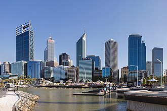 Perth - Perth's skyline viewed from Elizabeth Quay