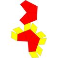 Elongated square trapezohedron net.png