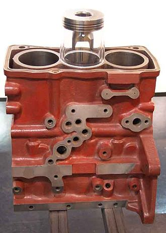Straight-three engine - Cylinder block of an inline three-cylinder engine