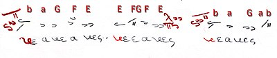 You do the same way in echos devteros. If you descend 4 steps [b—a—G—F—EE] to find its plagios, i.e. πλ β', thus [E—F—G—F—EE].