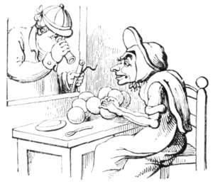 English Caricaturists, 1893 - Lesson in Apple Dumplings.png