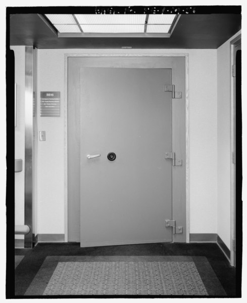 File Entry Door Closed Bb 16 Basement Level Building 500 Looking Southeast Offutt Air