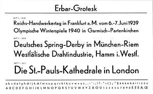 Erbar (typeface)
