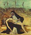 Ercole de' Roberti - Predella of Stories of Christ - 2. Pietà - WGA19624.jpg