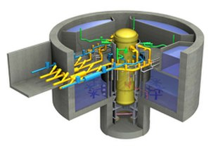 Economic Simplified Boiling Water Reactor - Cut-away view of a GE-Hitachi Nuclear Energy reactor design
