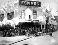 Eskimos with dogsleds, Eskimo exhibit, Pay Streak, Alaska Yukon Pacific Exposition, Seattle, 1909 (AYP 15).jpeg