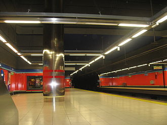 Bambú (Madrid Metro) - Image: Estacion Bambu