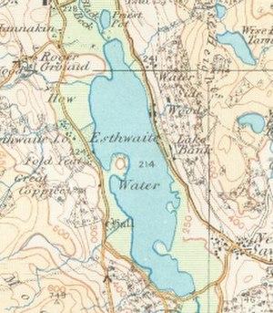Esthwaite Water - Map (1925)