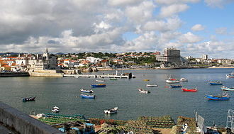 Estoril - The coast of the civil parish of Estoril, showing a mix of modern and historical architecture, as well as its fishing history